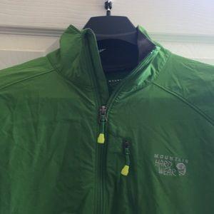 Green, mountain hardware soft shell jacket